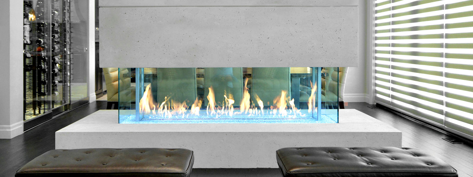 Gas Burning Fireplace